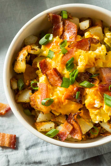 Slow Cooker Breakfasts: This casserole is full of all the classic hot breakfast favorites: hash browns, sausage, eggs, and cheese, along with onions, peppers, and plenty of seasonings.