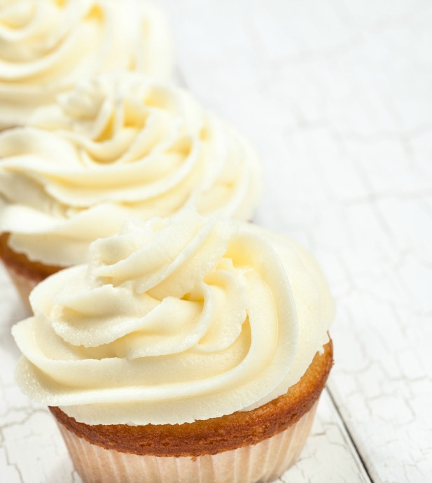 Nearly any homemade layer cake or batch of cupcakes will feature buttercream frosting. Many recipe variations exist, but they all include butter, powdered sugar, and some form of liquid.