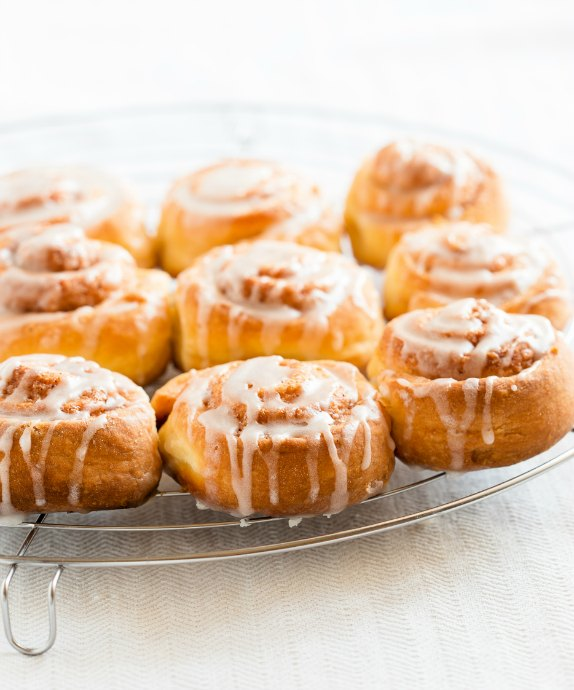Glaze is the perfect frosting to make when you don't feel up to making frosting. Bonus: you don't have to wait until your pastries are fully cooled before drizzling glaze on them.