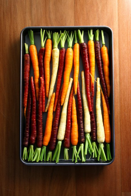 Carrots come in other colors besides orange -- red, white, yellow, and even purple.