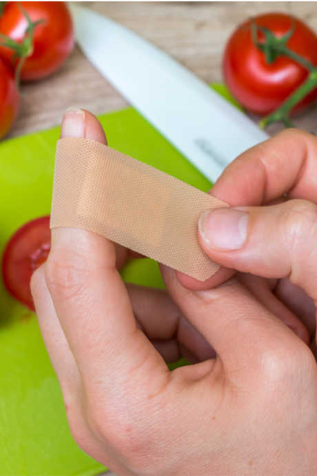 Kitchen Safety Tips: A dull knife is more likely to slip; instead of slicing your food, it may slice your fingers.