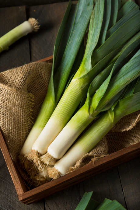 Types of Onions: The white parts of leeks have a mild flavor, but they're nearly always cooked in order to soften the texture. Use them in soup, or bake them with cheese and breadcrumbs.
