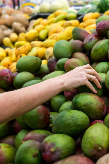 Don't judge a mango by its color unless you know what variety it is, and what different colors mean for that variety. The National Mango Board explains that going by feel is the best approach.