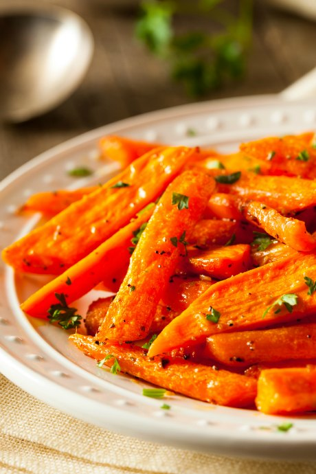 Roasting carrots doesn't involve much active work, and the heat of the oven helps bring out their sweetness.