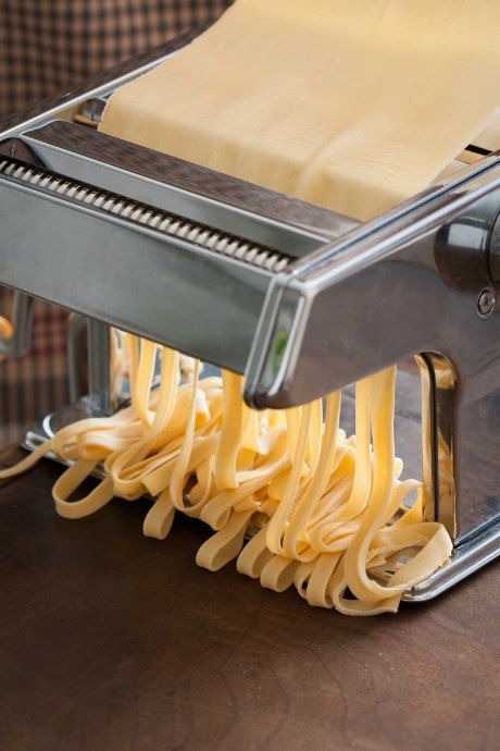 Homemade Pasta Dough: Rolling pasta takes several passes at increasingly thinner settings before you're ready to cut pasta, either with the machine or by hand.