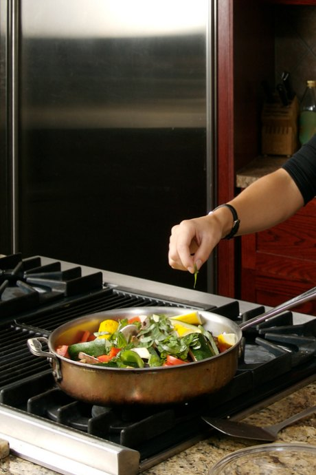 Do You Need a Sauté Pan? Look for a sauté pan with a helper handle opposite the primary handle to assist you in balancing the pan.